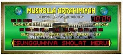 Toko Jam Jadwal Sholat Digital Masjid Di Cirebon