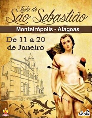 Festa do Padroeiro São Sebastião em Monteirópolis inicia-se nesta sexta-feira, 11