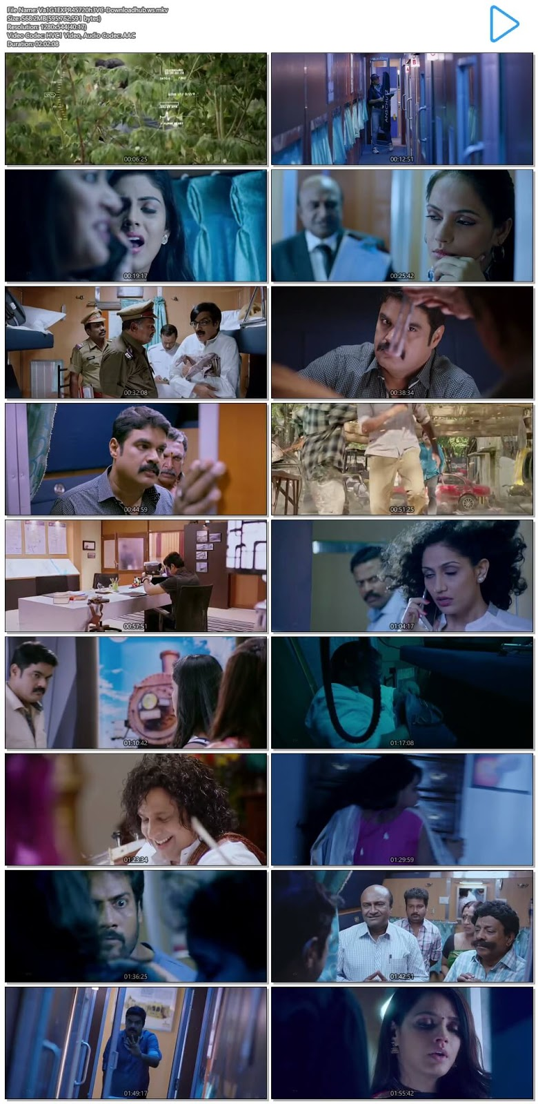 Vaigai Express 2017 UNCUT Hindi Dual Audio 720p HEVC HDRip Free Download