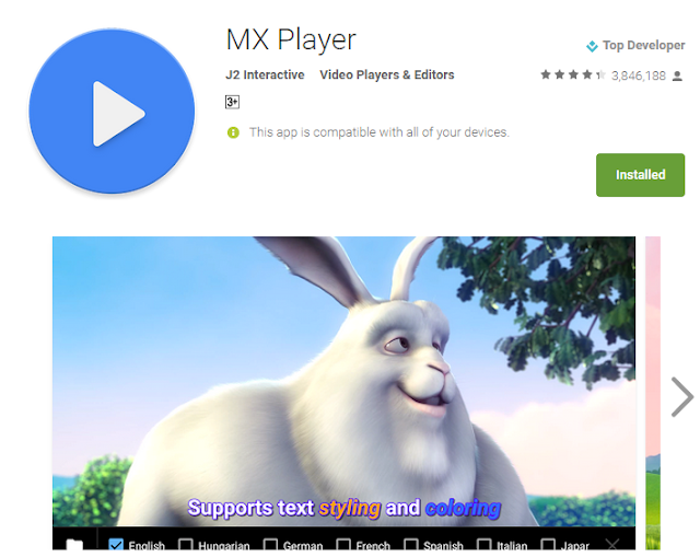 Screenshot for best video player for android
