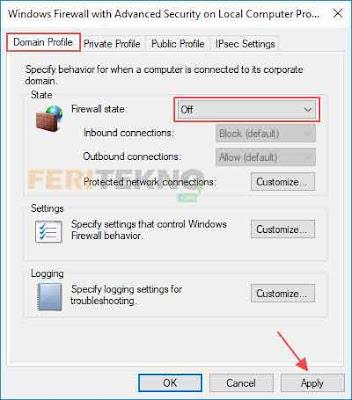 cara mematikan windows firewall dengan mudah 7