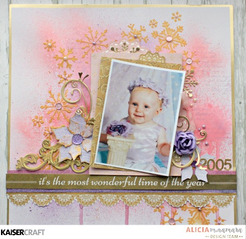 Kaisercraft Christmas Wishes Layout by Alicia McNamara
