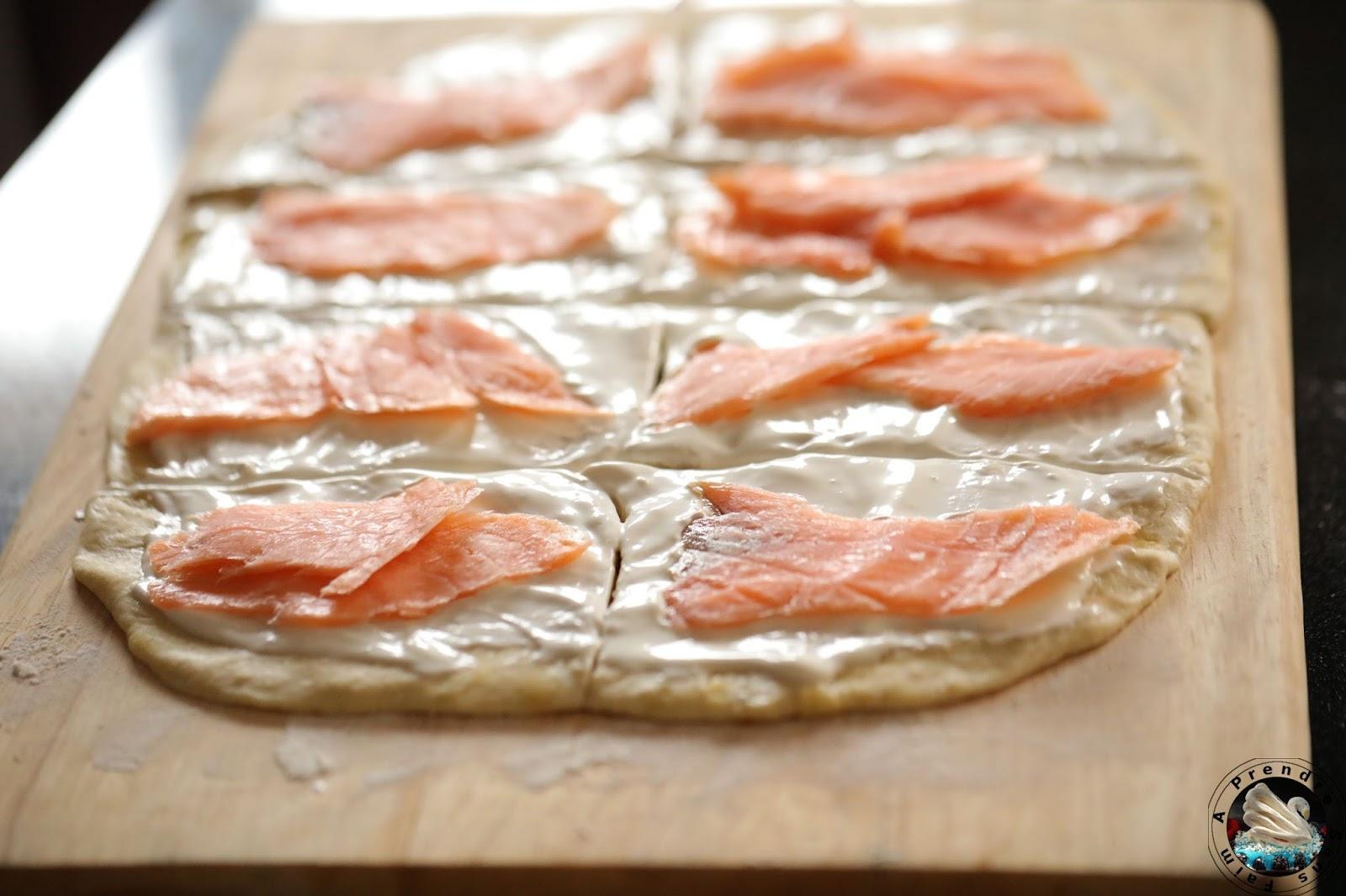 Breadsticks au saumon fumé