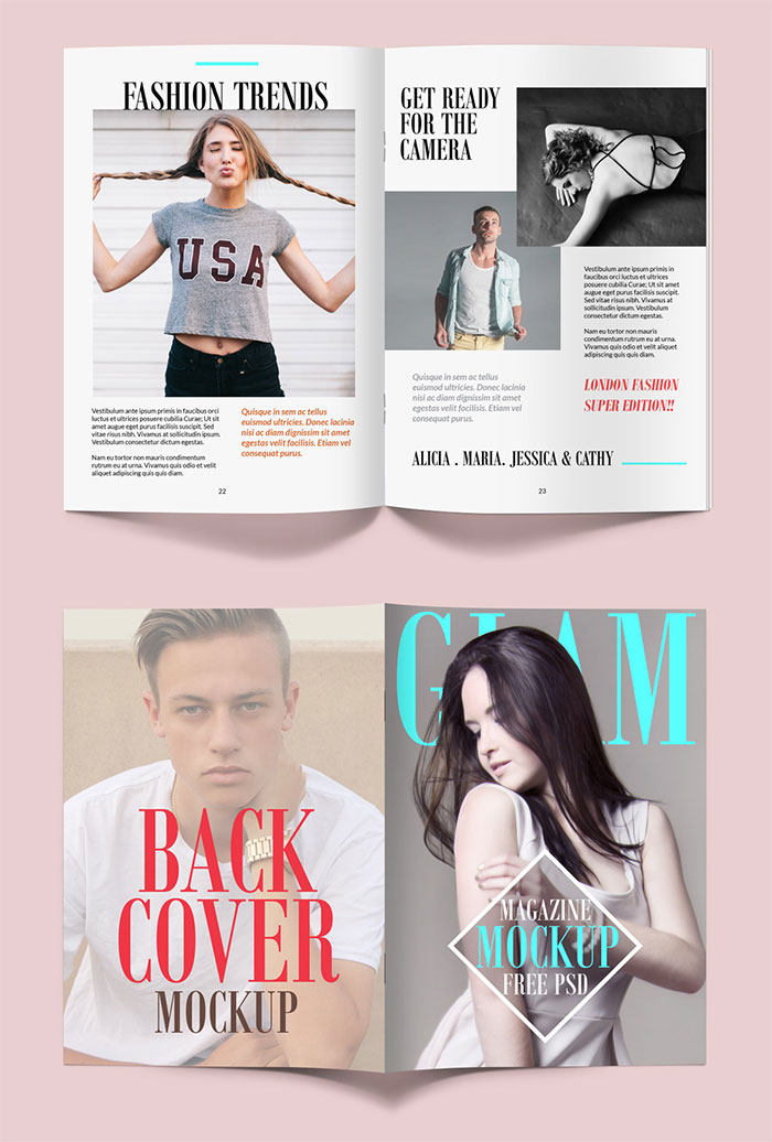 Free Magazine Mockup PSD Template
