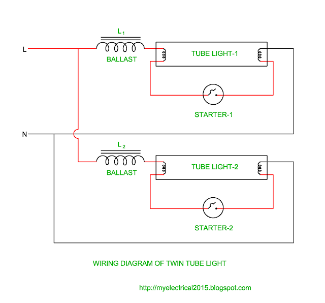 Wiring Diagram of Twin Tube Light | Electrical Revolution on tail light diagram, go light wiring diagram, brake light diagram, fuse wiring diagram, wiring horn diagram, ford wiring diagram, relay wiring diagram, trailer lights diagram, wiring fan diagram, flood light wiring diagram, trailer wiring diagram, fog light diagram, switch wiring diagram,