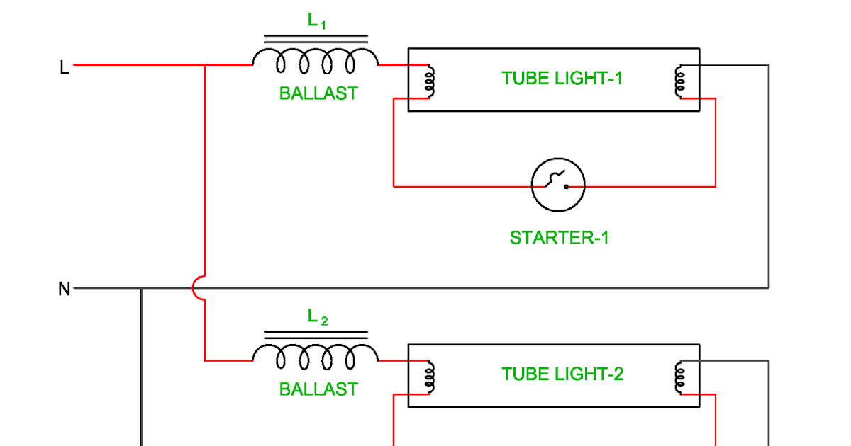 Wiring Diagram of Twin Tube Light | Electrical Revolution