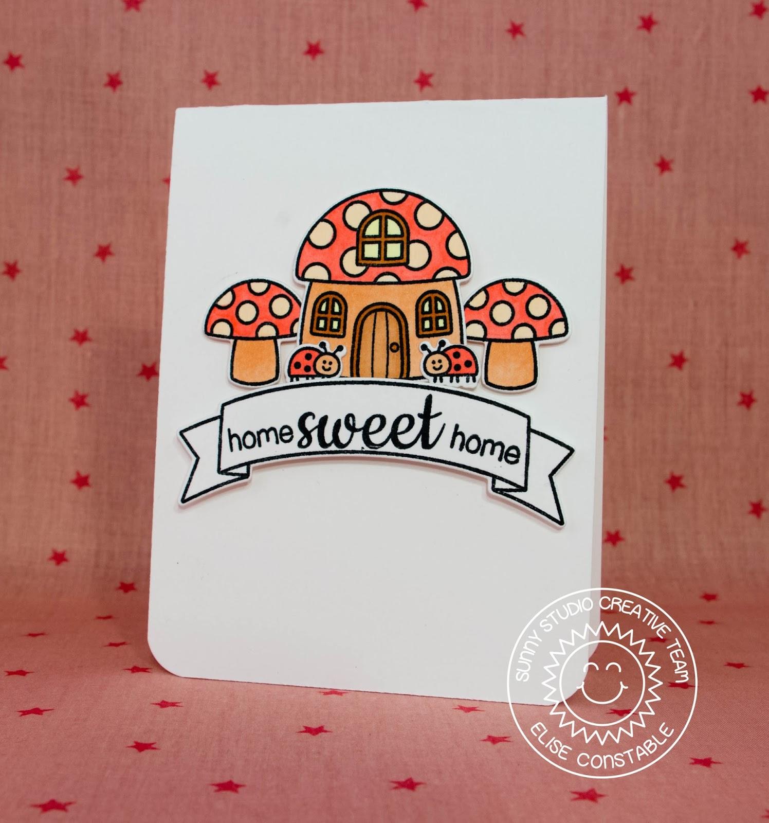 sunny studio backyard bugs home sweet home card with elise