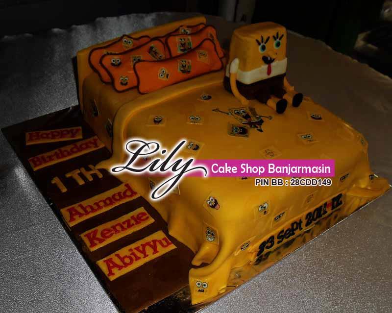 KUE Ultah Bentuk Ranjang Khas Lily Cake Shop Order ADIT Karyawan