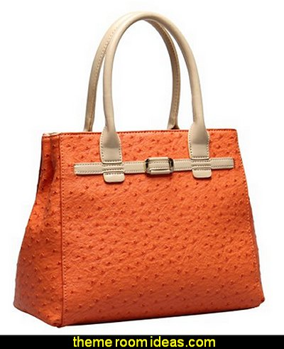Hynes Victory Ostrich Top Handle Handbag