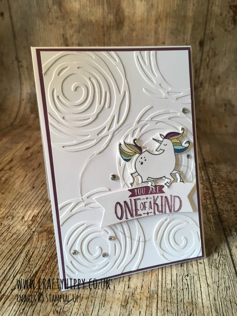 How to make this unicorn card. Use the Magical Day stamp set from Stampin' Up!