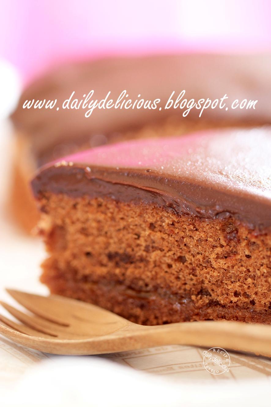 Chocolate Cake Apricot Filling