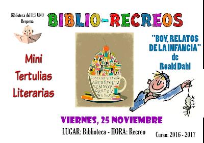 Cartel biblio-recreo noviembre 2016