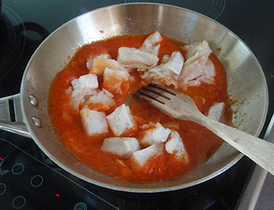 salsa con bacalao para acompañar trigo