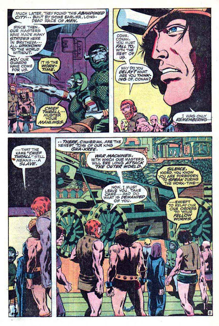 Conan the Barbarian v1 #2 marvel comic book page art by Barry Windsor Smith