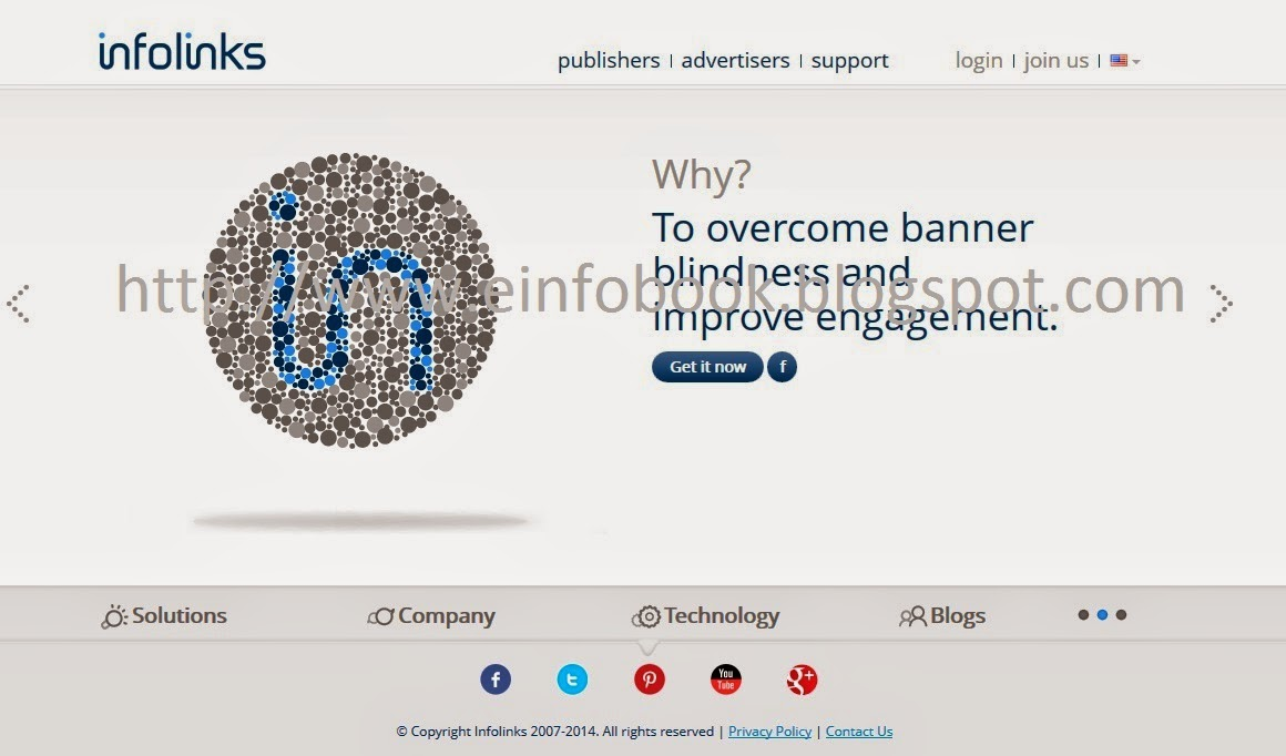 Infolinks.com home page