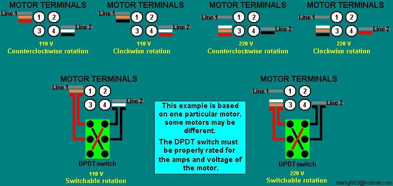 Ac Motor Wiring Diagram Capacitor What Is The Meaning Of Speed Picture: Reversing Switch
