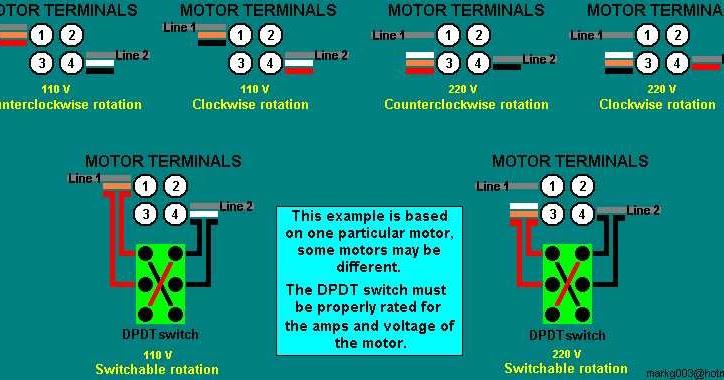 Reversible Ac Motor Wiring Diagram Reversible Ac Motor Wiring Diagram