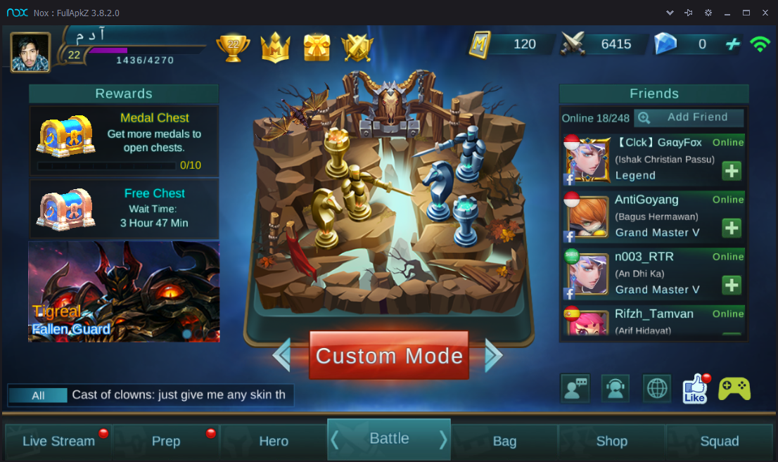 cara bermain mobile legend di pc menggunakan joystick