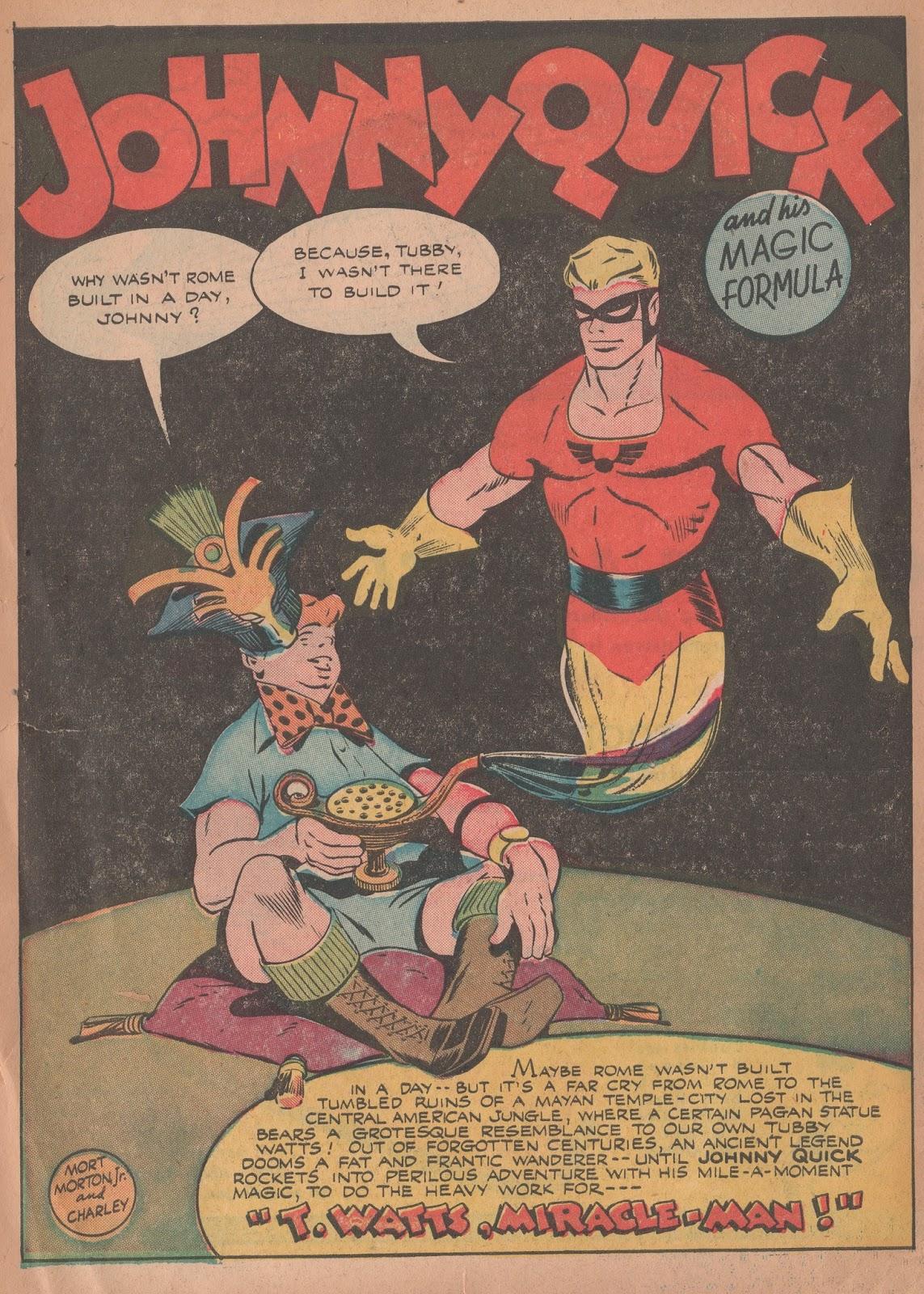 7f4bcc371d2 Johnny Quick, More Fun Comics 96: T. Watts, Miracle-Man!