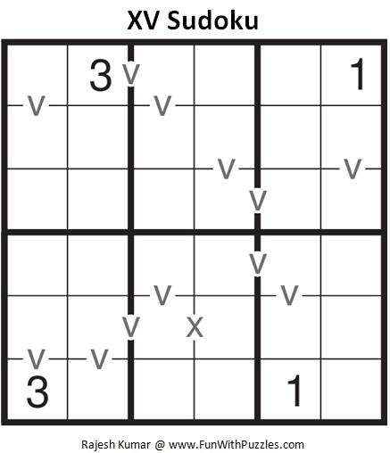 Mini XV Sudoku (Mini Sudoku Series #56)