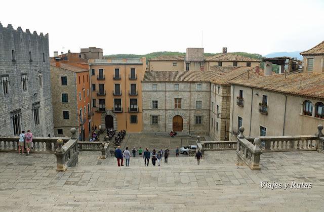 Plaza de la catedral de Girona