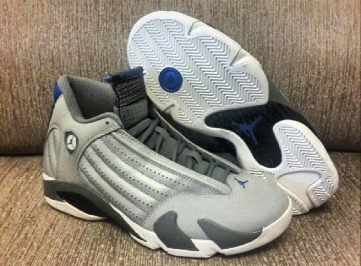 big sale ab943 9fa24 top quality jordan 14 cool grey sport blue 3705b 16455