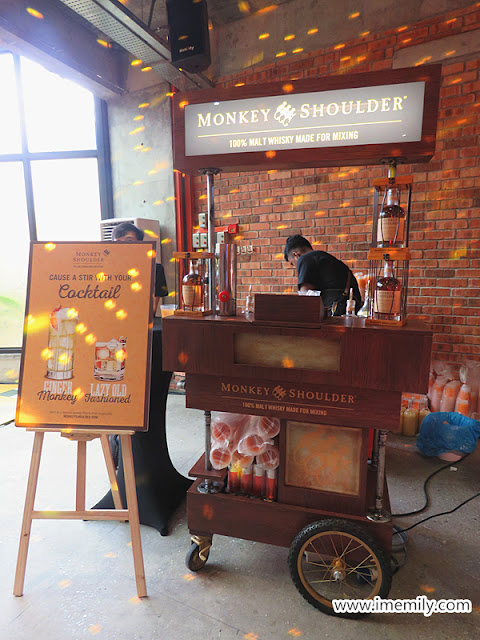 playful themed Monkey Shoulder whisky drink