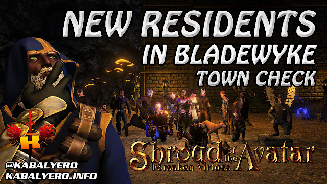 New Residents, Bladewyke Player Owned Town 🏠  Shroud Of The Avatar (Town Check)
