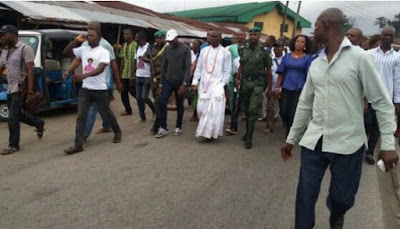 See what is happening at Tompolo's father Burial in Warri