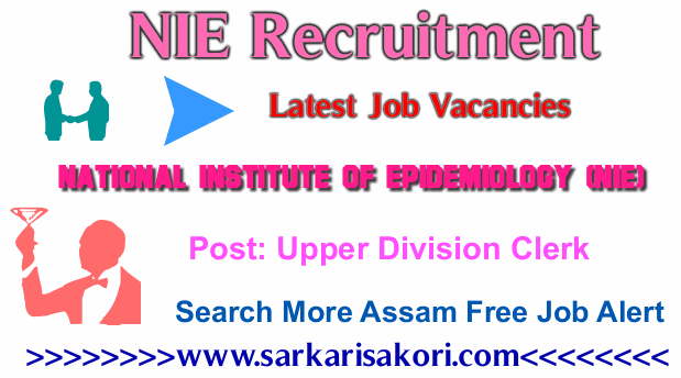 NIE Recruitment 2017 Upper Division Clerk