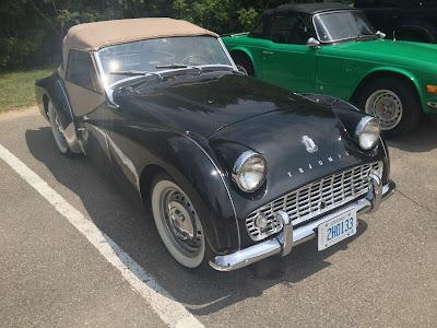 Classic Triumph at British Car Show