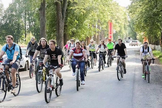 С электрички – на велосипед, далее везде