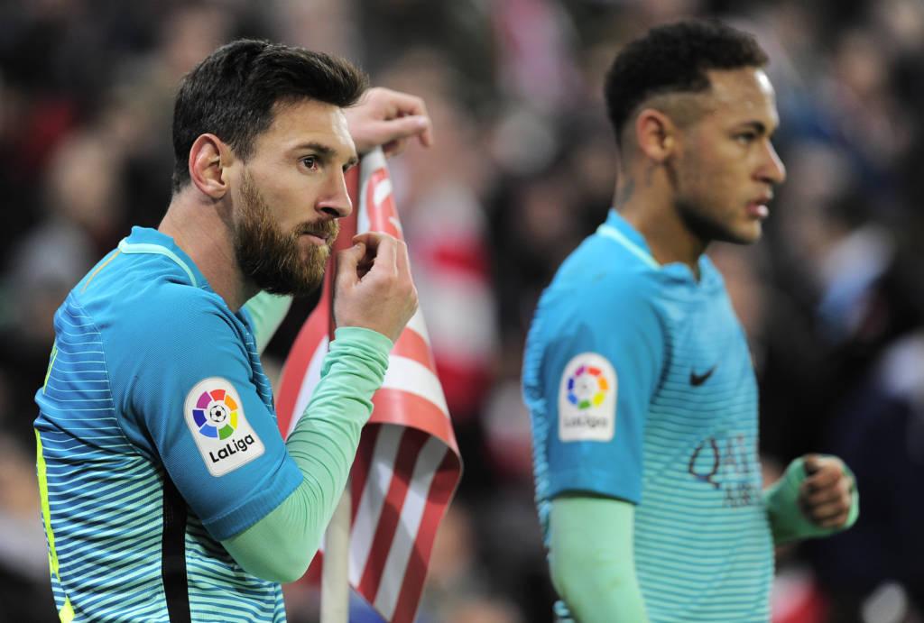 Barça espera o brilho de suas estrelas para avançar na Copa do Rei (Foto: Ander Gillenea/AFP)