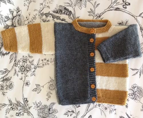 Gingersnap Baby Cardigan - Free Pattern