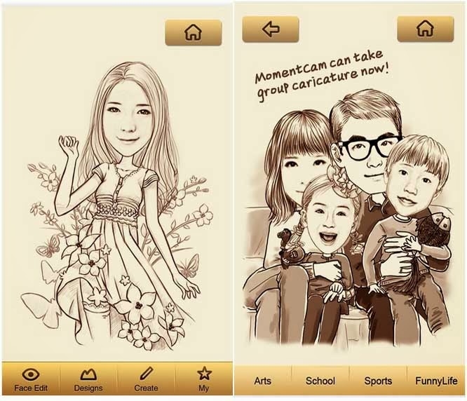 How To Make Cartoon Face By Momentcam App In Android And Ios Quickly