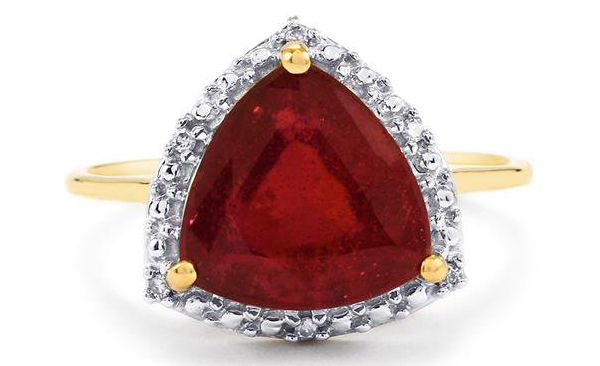 Madagascan ruby ring with diamonds from Gemporia