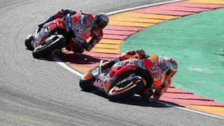 MOTO GP - Recital de Márquez en Aragón tras una vibrante lucha con Dovizioso e Iannone