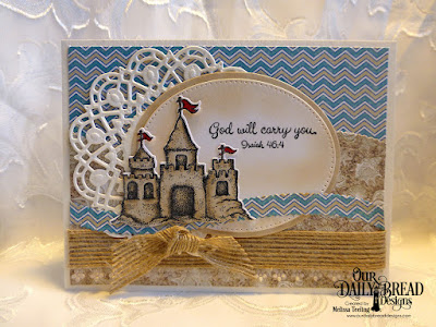 Our Daily Bread Designs Stamp Set; Sending You Sunshine, Our Daily Bread Designs Custom Dies:  Sandcastle, Doily, Pierced Ovals, Ovals, Leafy Edged Borders, Our Daily Bread Designs Paper Collections: By The Shore