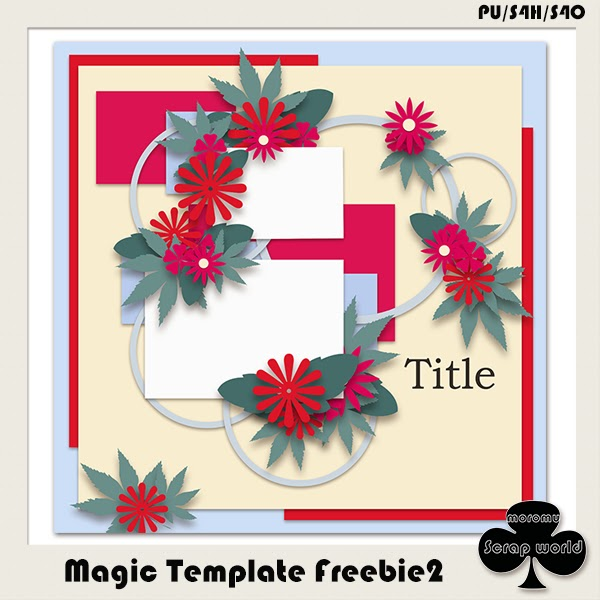 Magic Template Freebie2 by moromu Scrap world
