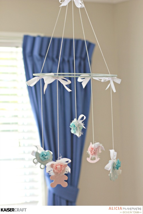 Kaisercraft Peek-a-Boo Baby Mobile by Alicia McNamara
