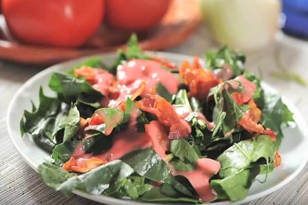 ensalada de espinaca con vinagreta de frambuesa poster box cover