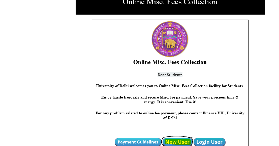 Online Process for Delhi University Transcripts