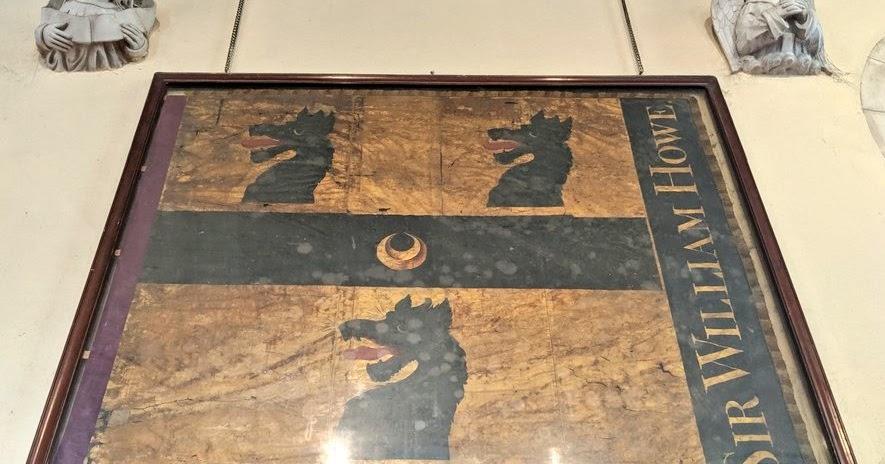 Sir William Howe's Banner on Display in Penn