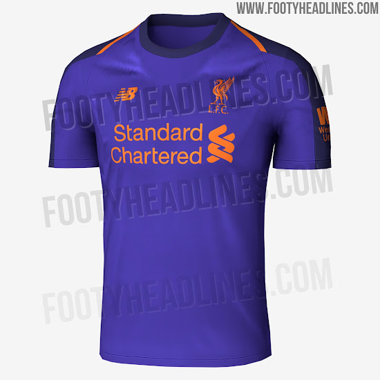 e1253b73a The collar and the sleeves of the Liverpool 18-19 away kit are of a darker