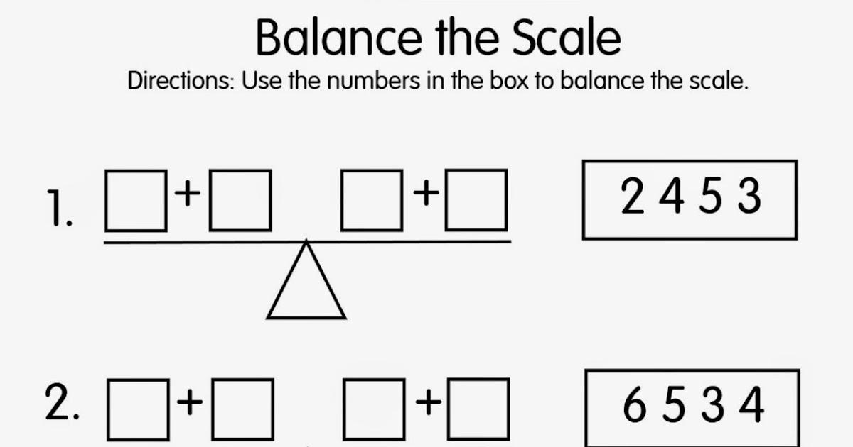 Mrs. T's First Grade Class: Balance the Scale