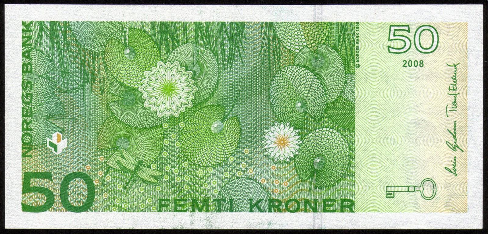 Norwegian Banknotes 50 Norwegian Kroner note