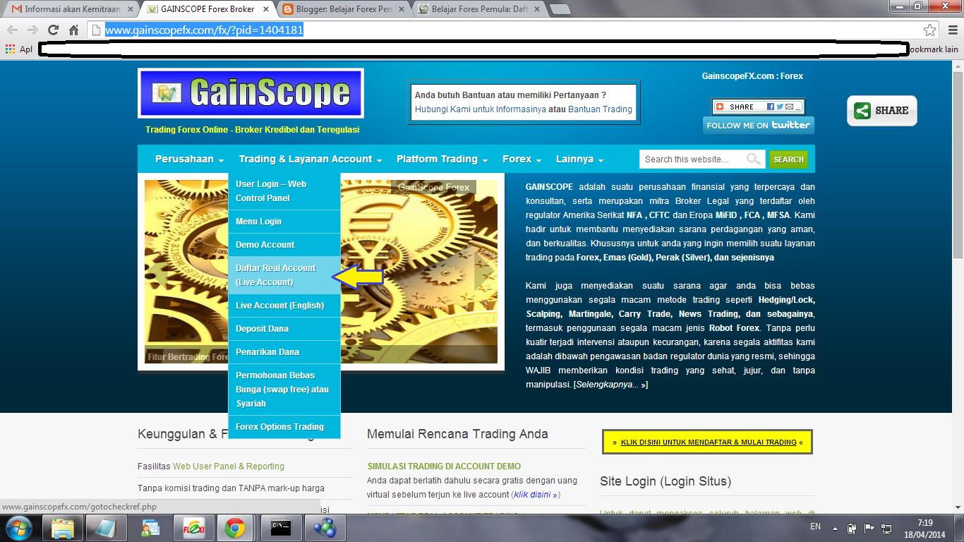 Belajar forex gainscope