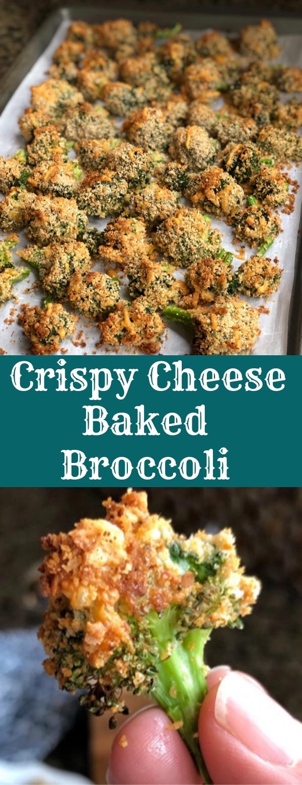 The BEST Crispy Cheese Baked Broccoli Recipe