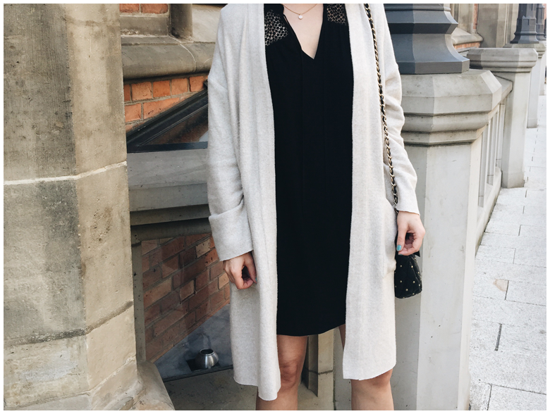 spring outfit | zara neutral cardigan, h&m black dress | more details on my blog http://junegold.blogspot.de | life & style diary from hamburg | #fashion #outfit #spring #springoutfit #black #neutrals #hm #zara