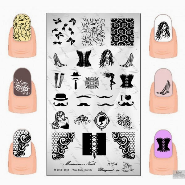 Lacquer Lockdown - Marianne Nails Nail Art Stamping Plates, Marianne nail art plates, marinane stamping plates, nail art, nail art stamping blog, new nail art stamping plates 2014, new nail art image plates 2014, new nail art plates 2014, stamping, new nail plates 2014, diy nail art, cute nail art ideas, new nail art ideas, paris nail art
